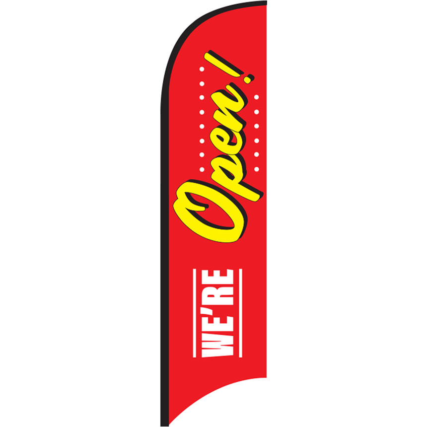 We're Open Feather Flag Kit 12ft
