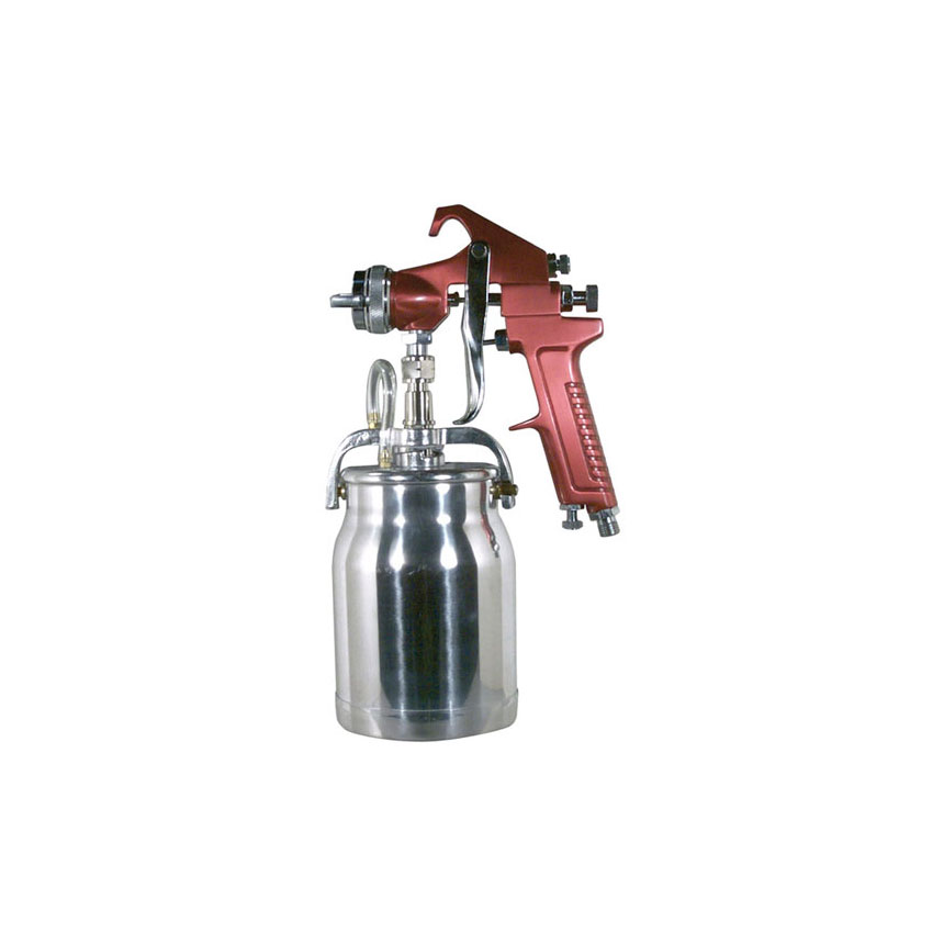 Astro Pneumatic Spray Gun with Red Handle & Cup - 4008