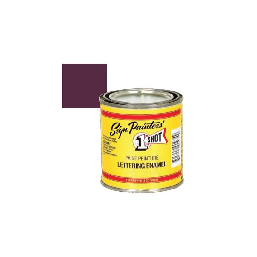 1 Shot Purple Lettering Enamel - 1/4 Pint - 162L4Z