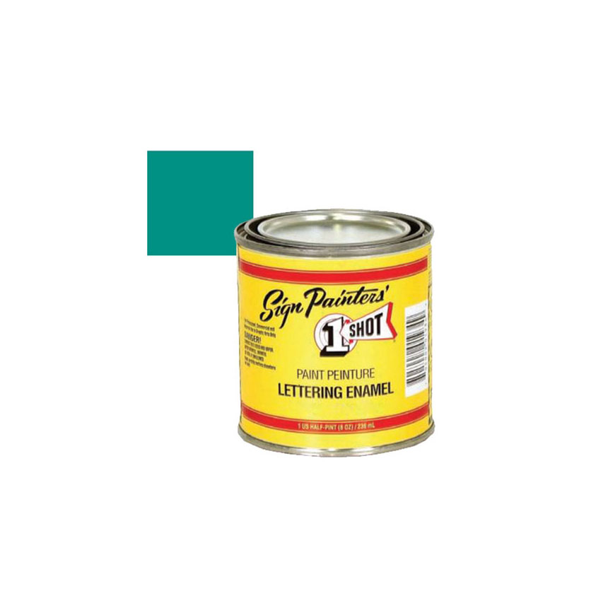 1 Shot Kansas City Teal Lettering Paint, 1/4 Pint - 157L