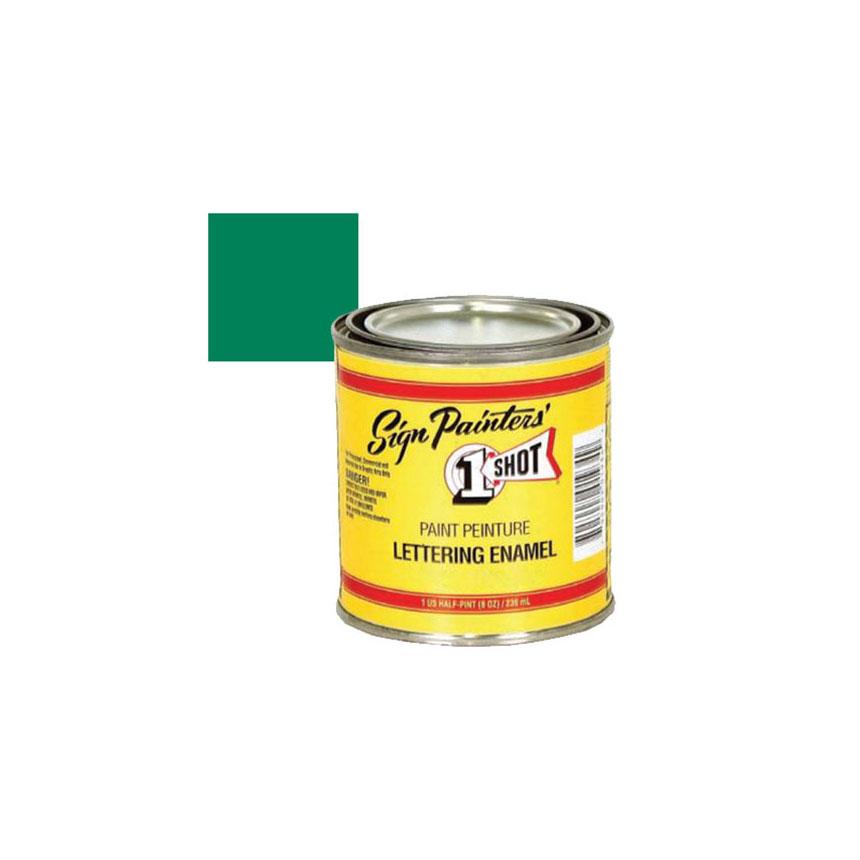 1 Shot Process Green Lettering Paint, 1/4 Pint - 143L