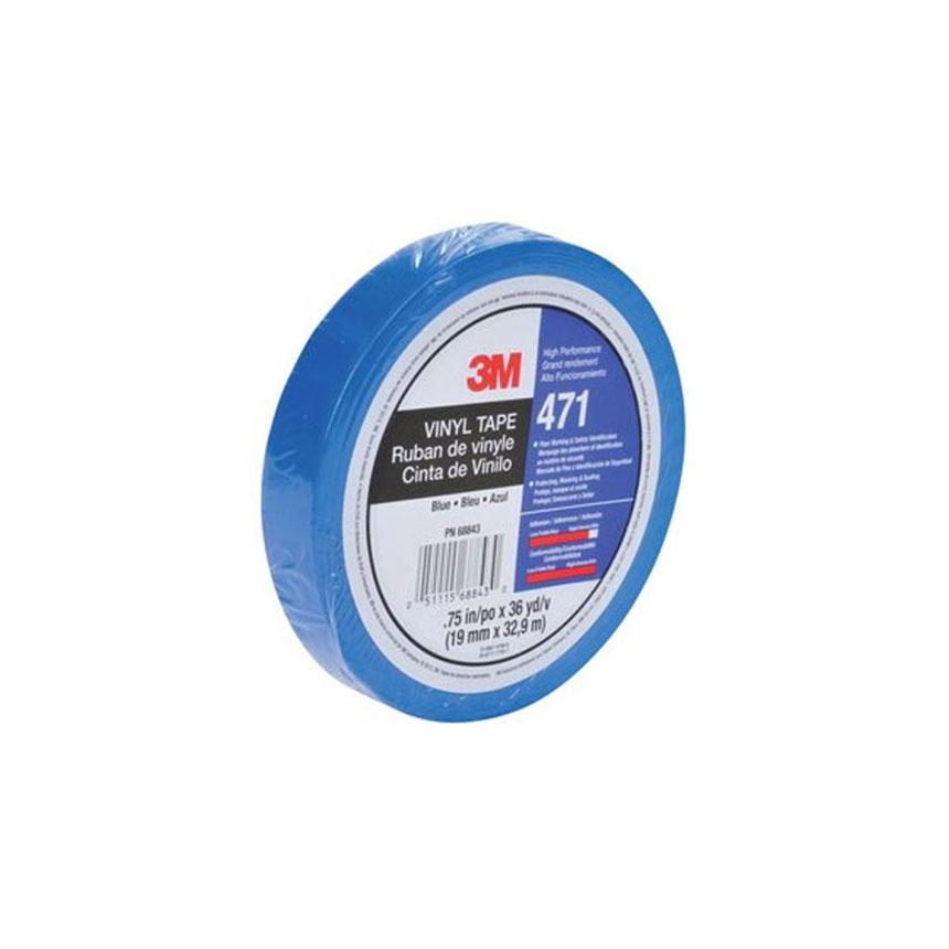 "3M Vinyl Tape 471 Blue 1/2"" x 36 yd"