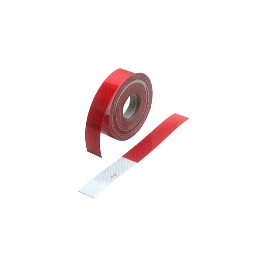 """3M Diamond Grade Conspicuity Marking Roll 983-32, alternating 11"""" Red and 7"""" White bands, 2"""" x 150ft roll - 67533"""
