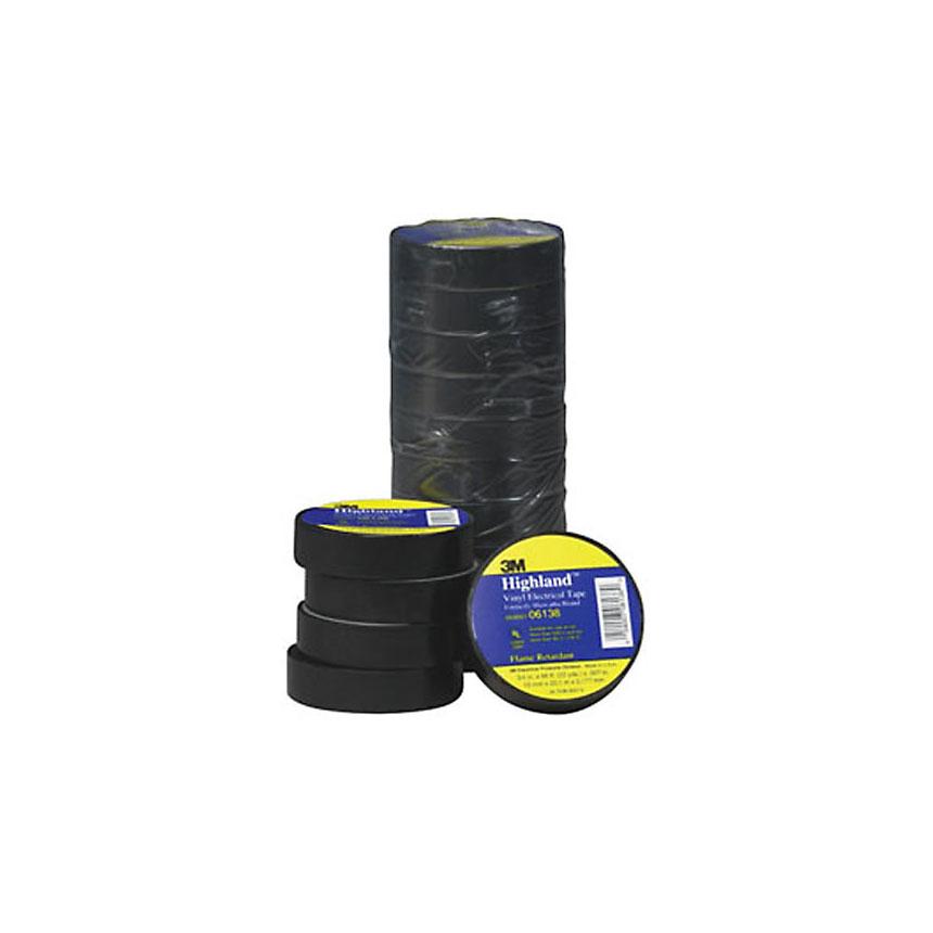"3M Highland Vinyl Plastic Electrical Tape, 3/4"" x 66ft - 06138"