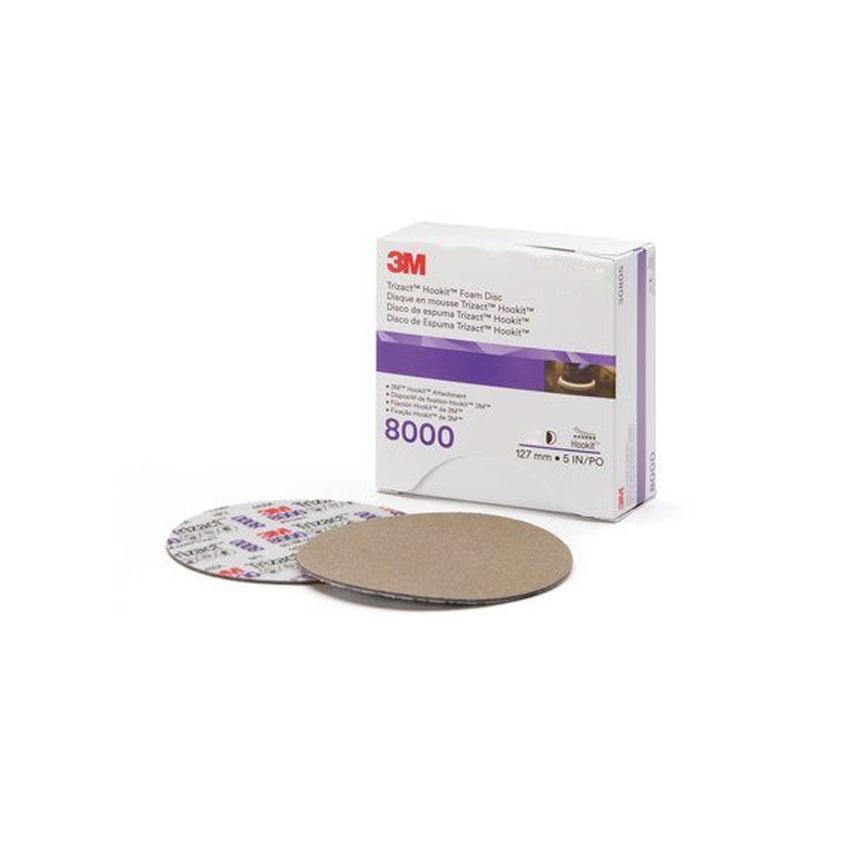 """3M 3"""" Trizact Hookit Foam Disc Kit, 3000G & 8000G - 30807"""
