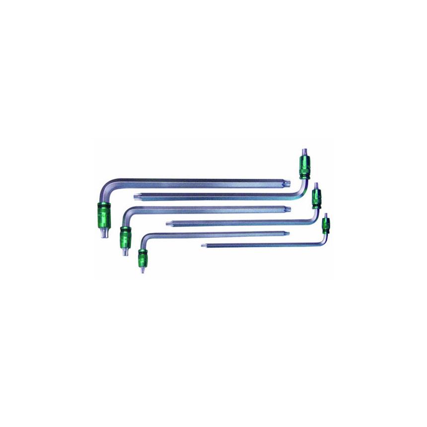 Astro Pneumatic 6-pc. 2-in-1 Torx Key Wrench Set - External Hex (Metric) / Internal Torx  (T20, T25, T30, T40, T45, T50) - 1035