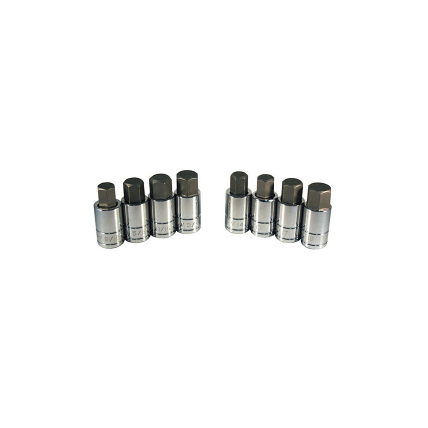 ATD Tools 8 Pc. Large Size SAE/Metric Hex Bit Socket Set - 13788