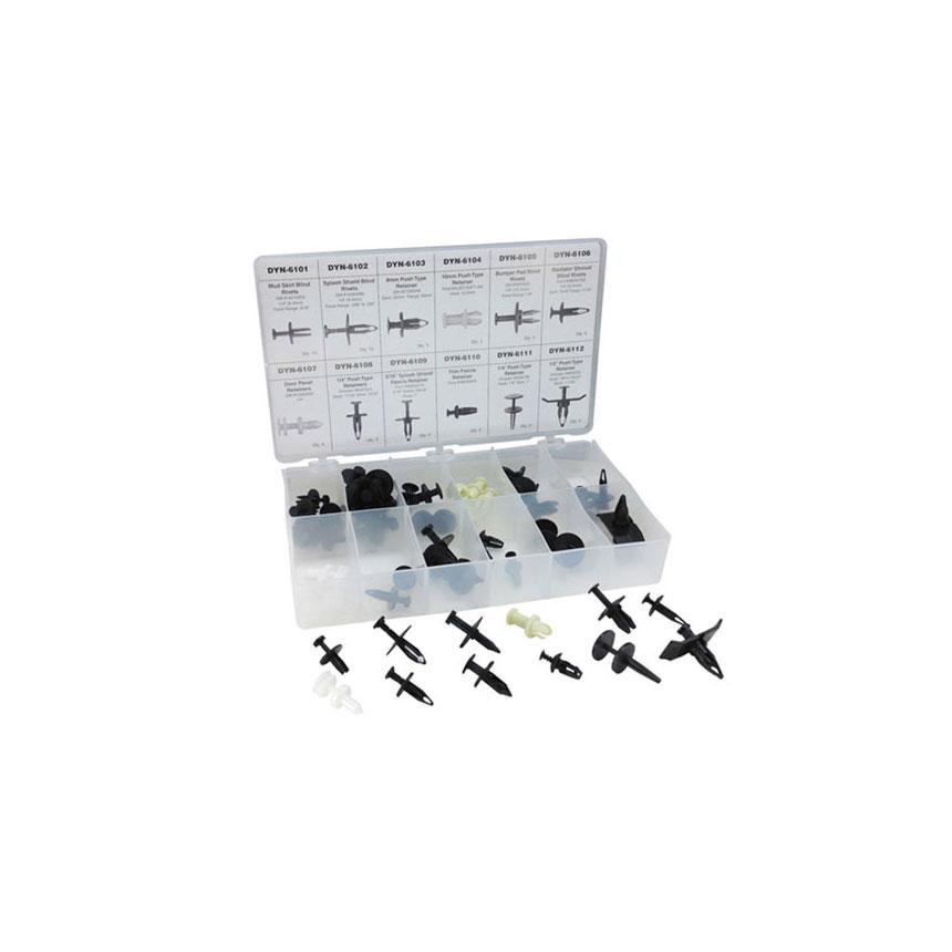 ATD Tools 60 Pc. Push-Pin Type Retainer Assortment - 39356