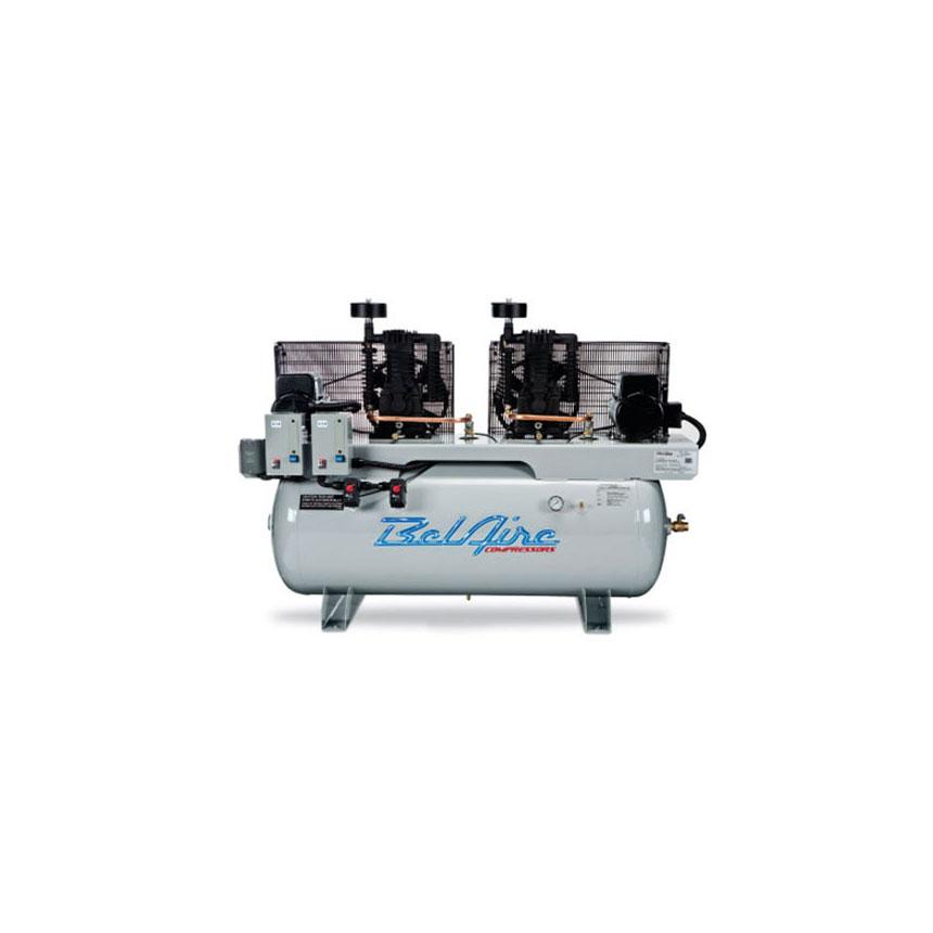 BelAire Iron Series 2x7.5HP 120-Gallon Single Phase Electric Duplex Horizontal Compressor - 4112DL