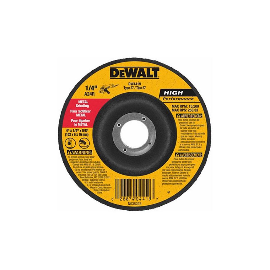 DeWalt High Performance Metal Grinding Wheels