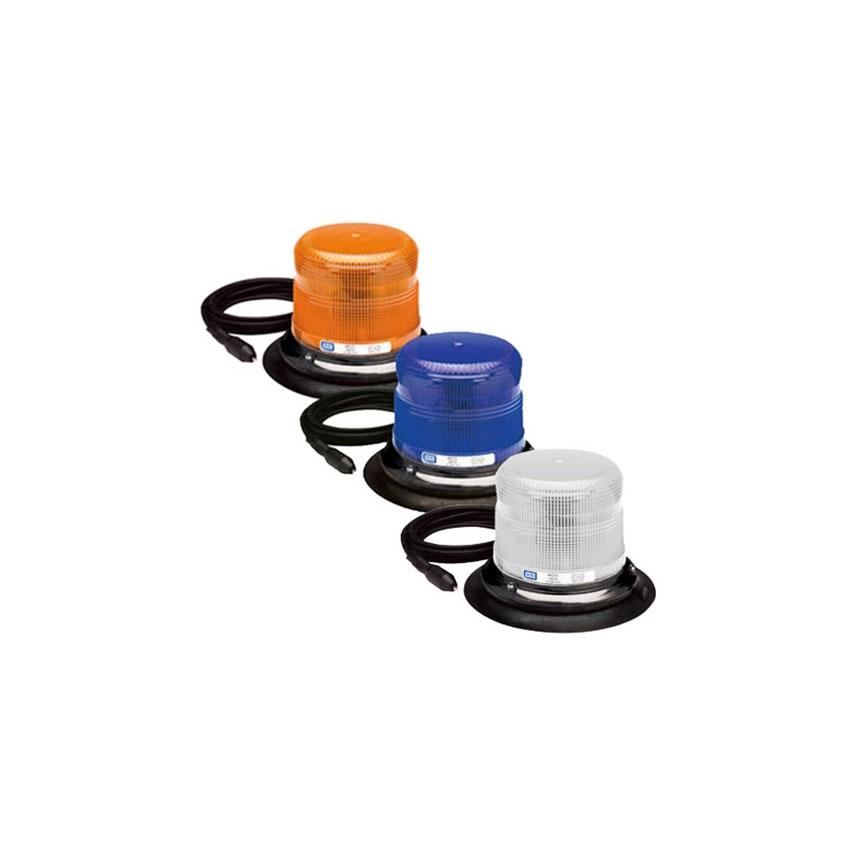 ECCO Strobe Beacon: 6600 Series, Low Profile 360° Strobe, Vacuum-Magnet Mount, 12-24 VDC