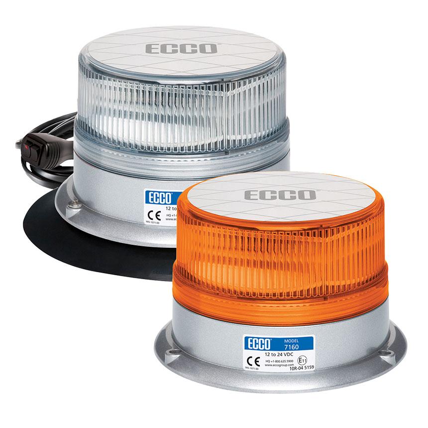 ECCO Reflex LED Beacon Light, SAE Class I, 15 Flash Pattern, 12-24VDC - 7160 Series