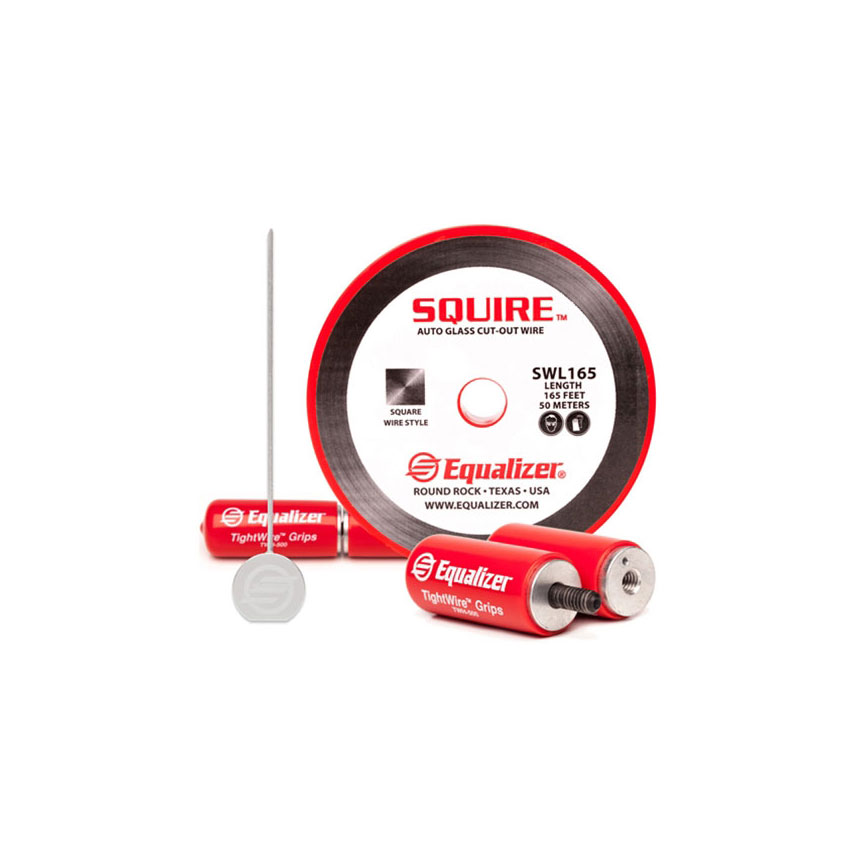 Equalizer® Squire™ Auto Glass Cut-Out Wire Start-Up Kit with TWH500 TightWire™ gripping handles - SQK213