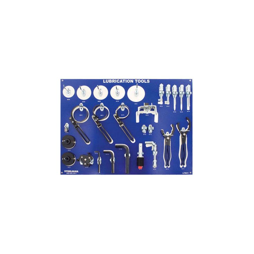 Steelman Lubrication Board w/Tools (JS Products) - LTB01-WM-WT