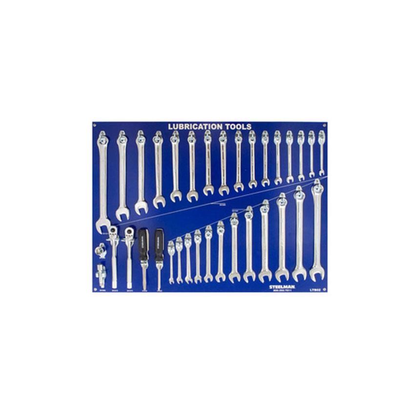 Steelman Lubrication Board w/Tools (JS Products) - LTB02-WT