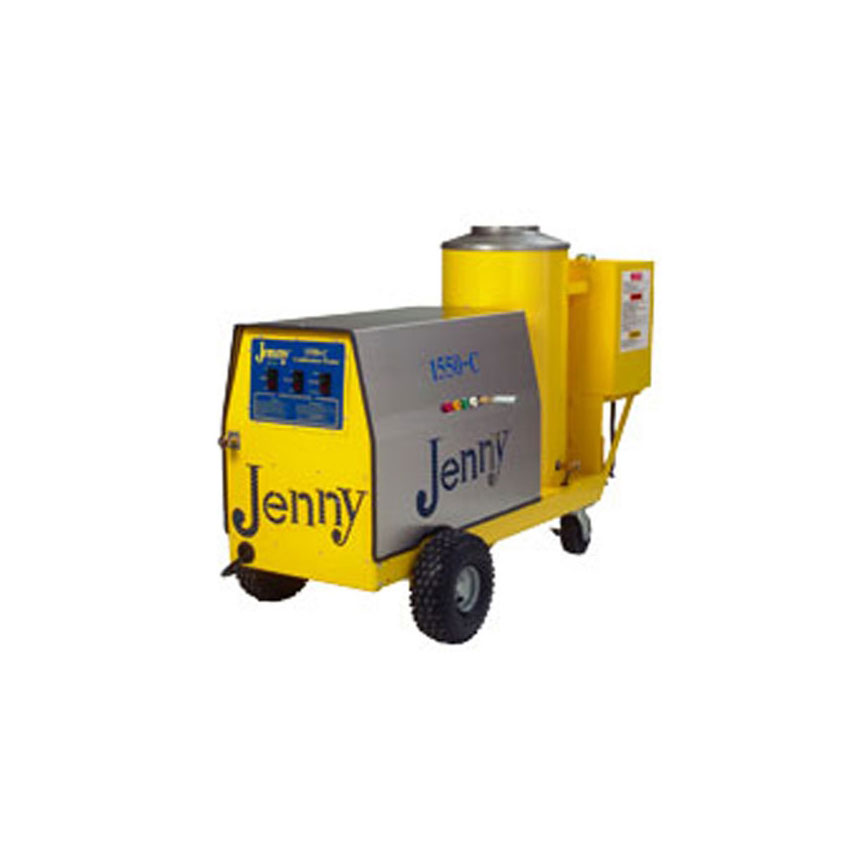 Steam Jenny Oil Fired 1500 PSI at 5 GPM Pressure Washer/110 GPH Steam Cleaner, 11hp Gas Engine - 1550-C-OMP