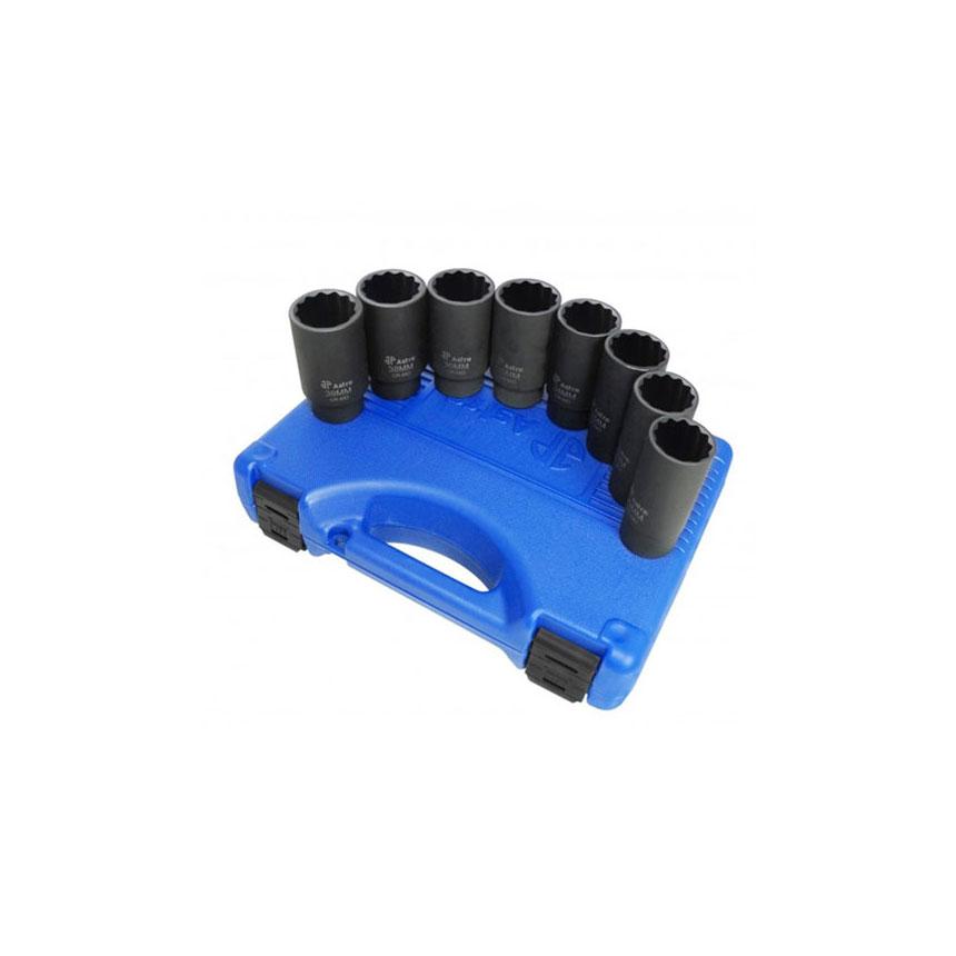 Astro Pneumatic 8-pc. 12 Point Axle Nut Socket Set - 78868