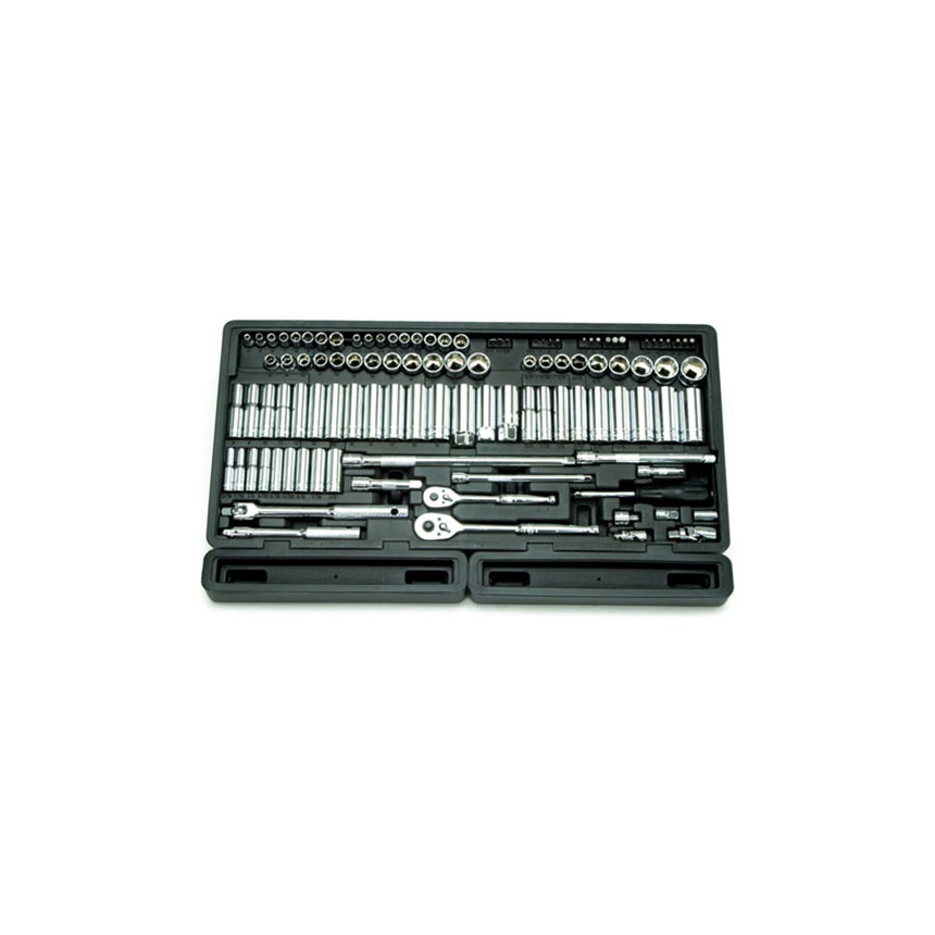 "ATD Tools 106 Pc. 1/4"" & 3/8"" Dr. 6-Point Master SAE & Metric Chrome Socket Set - 1380"