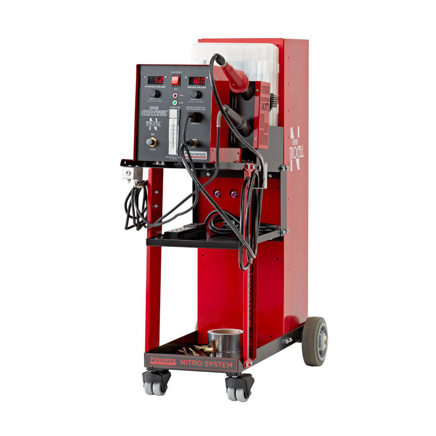Polyvance Digital Nitro-Fuzer Nitrogen Plastic Welder w/ Cart, Single Gas - 8203