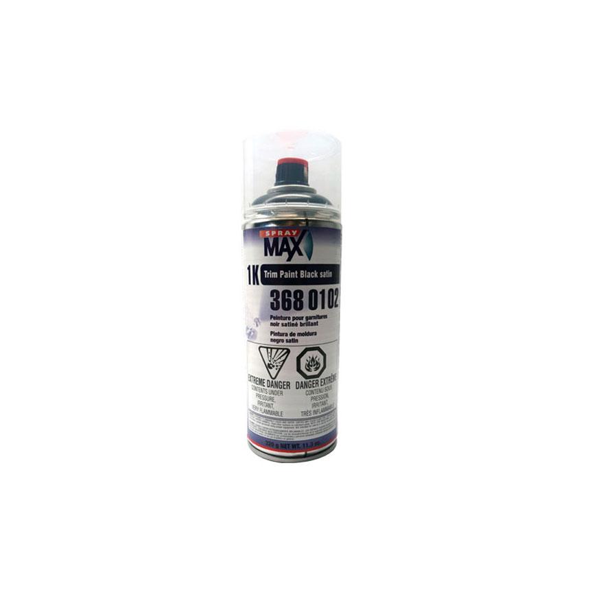 SprayMax 1K Trim Paint Satin Black - 3680102