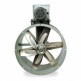"""Dayton 30"""" 3-Phase Tubeaxial Fan, 208-230/460V, 1320 RPM, 3HP"""
