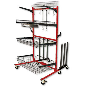 ProLific Parts Caddy PRO with Variable Depth Shelves & Panel Kit