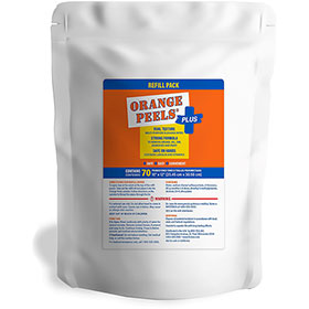 "Orange Peels® Plus 10"" x 12"" Wet Wipes Refill Bag"