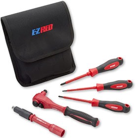5 Piece E-Z Red Insulated Hybrid Tool Set