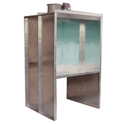 Col-Met 4'W x 4'H x 2'D Open Front Bench Paint Booth