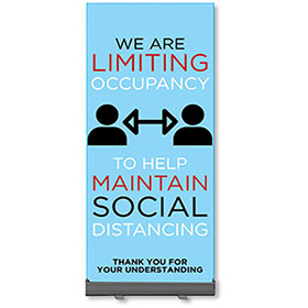 Retractable Banner Stands - Limiting Occupancy