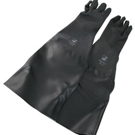 "ALC Replacement Sandblaster Gloves - 24"" Rubber Gloves - 11640CS"