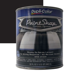 Dupli-Color Paint Shop Finishing System Jet Black Paint - BSP200