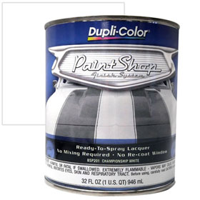 Dupli-Color Paint Shop Finishing System Championship White Paint - BSP201