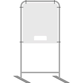 InteliShield Protective Screen – Small Floor Standing 80 x 28 in