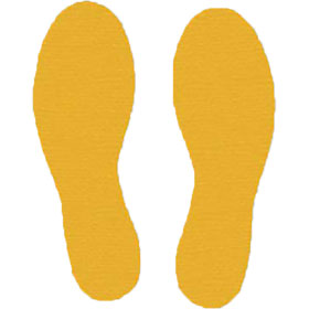 Footprint Floor Decals - Yellow