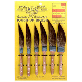 Striping Brushes Set Of 6