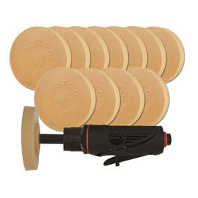 Astro Pneumatic ONYX Pinstripe Removal Tool Kit with (12) 400E Eraser Pads - 232