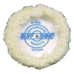 """Buff & Shine 4-Ply Twisted Wool 3"""" Grip Buffing Pad 2-Pak - 301G"""