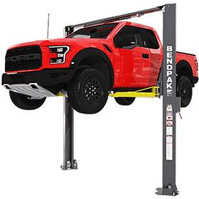 BendPak 10,000 lb. High Rise Asymmetric Lift w/ Screw Pads - XPR-10AXLS