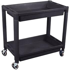 ATD Tools 2-Shelf Heavy-Duty Plastic Utility Cart