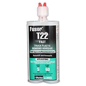 Lord Fusor Truck Plastic Installation Adhesive (Fast-Set), 7.1 oz. - T22