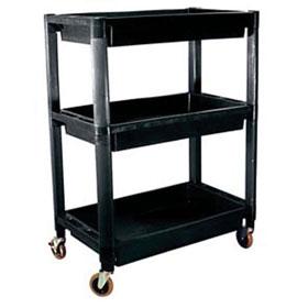 ATD Tools 3-Shelf Heavy-Duty Plastic Utility Cart