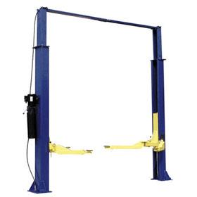 9,000 lb. Two Post Asymmetric Lift Clear Floor Model