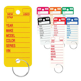 Heavy-Duty Plastic Key Tags