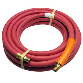 Red Rubber 25 foot Air Hose 3/8""