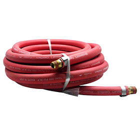 Red Rubber 25 Foot Air Hose 1/2""