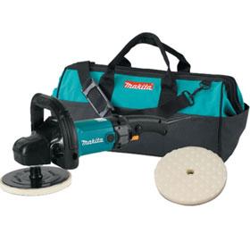 "Makita Electric 7"" Polisher with Foam Pad and Bag - 9237CX2-02"