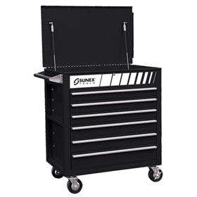 Sunex Tools Full Drawer Professional Duty Service Cart - 8057