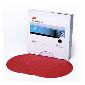 "3M Red Abrasive Stikit Disc, 8"", 25 discs/box"
