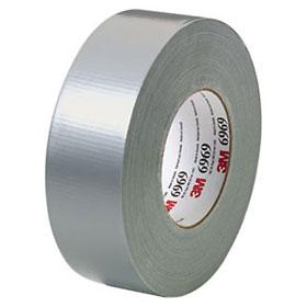3M Duct Tape Silver, 48 mm x 54.8 m 10.5 mil Bulk - 06969